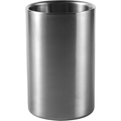 Picture of PESCARA DOUBLE WALLED SILVER STAINLESS STEEL METAL WINE BOTTLE COOLER in Silver
