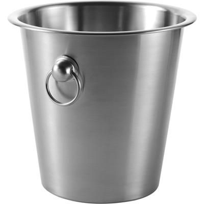 Picture of SILVER STAINLESS STEEL METAL CHAMPAGNE ICE BUCKET in Silver