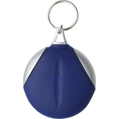 Picture of MICROFIBRE CLEANING CLOTH KEYRING in Blue & Silver