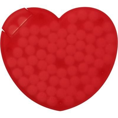 Picture of HEART SHAPE PLASTIC MINTS CARD