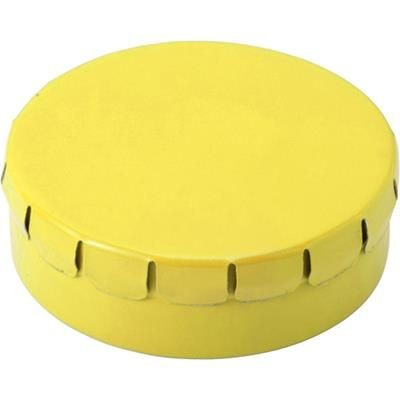 Picture of NOVEL ROUND MINTS TIN in Yellow