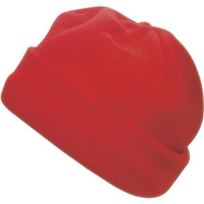 Picture of FLEECE BEANIE HAT in Red