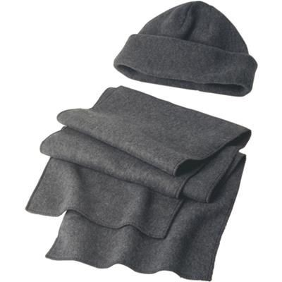 Picture of HAT & SCARF SET in Grey