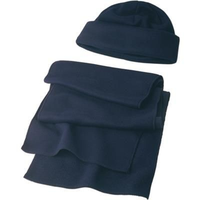 Picture of HAT & SCARF SET in Blue