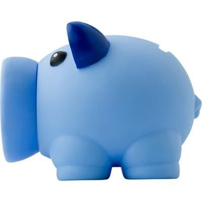 Picture of PLASTIC PIGGY BANK MONEY BOX in Light Blue