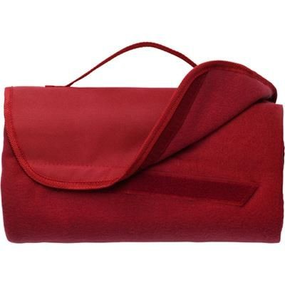 Picture of FLEECE TRAVEL PICNIC BLANKET in Red