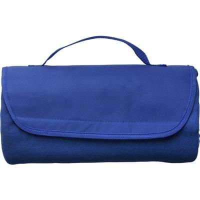 Picture of FLEECE TRAVEL PICNIC BLANKET in Cobalt Blue