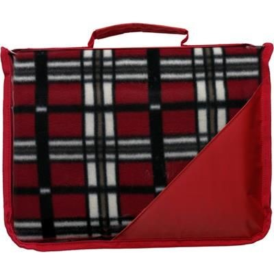 Picture of FLEECE PICNIC BLANKET with Plastic Backing in Red