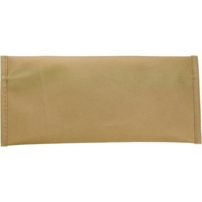 Picture of ECO NON WOVEN PENCIL CASE in Khaki including 15cm Ruler, Ball Pen with Green Trim, Pencil, Pencil Sh
