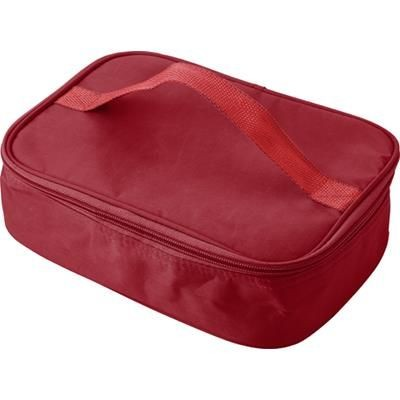Picture of COOL BAG & PLASTIC LUNCH BOX in Red