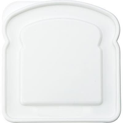 Picture of PLASTIC SANDWICH SHAPE LUNCH BOX in White