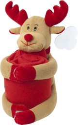 Picture of CHRISTMAS STUFFED ANIMAL with Picnic Blanket