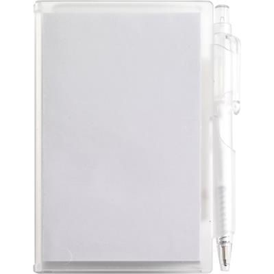 Picture of NOTE PAD BOOK & PEN in Translucent White