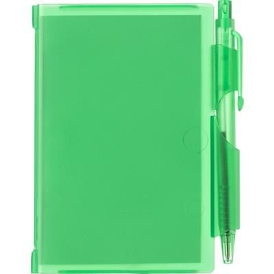 Picture of NOTE PAD BOOK & PEN in Translucent Green
