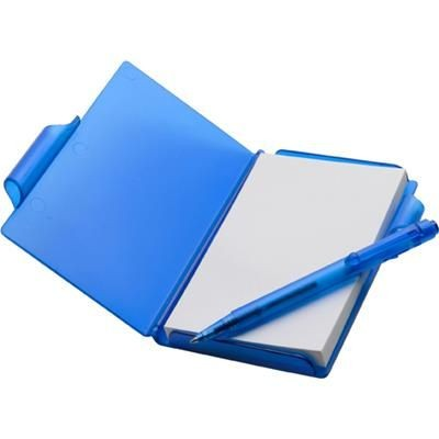 Picture of NOTE PAD BOOK & PEN in Translucent Blue