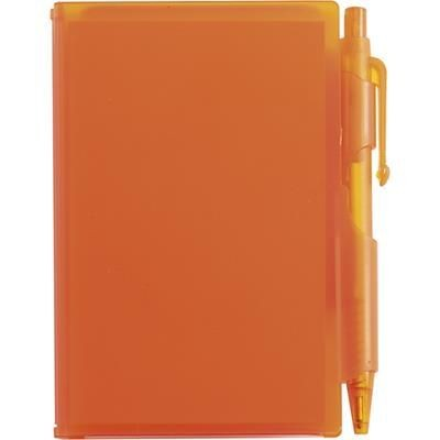 Picture of NOTE PAD BOOK & PEN in Translucent Orange