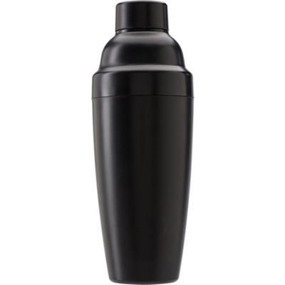 Picture of 550ML PLASTIC COCKTAIL SHAKER in Black integral Strainer