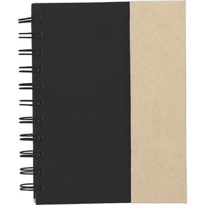 Picture of SPIRAL WIRO BOUND NOTE BOOK with Magnetic Closure in Black