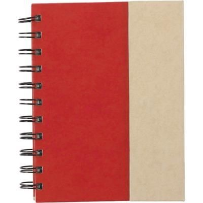 Picture of SPIRAL WIRO BOUND NOTE BOOK with Magnetic Closure in Red
