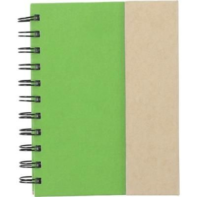 Picture of SPIRAL WIRO BOUND NOTE BOOK with Magnetic Closure in Light Green