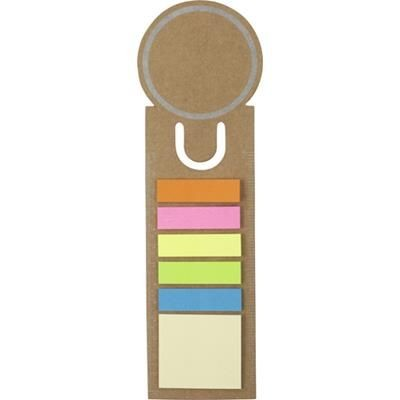 Picture of CARD BOOKMARK & INDEX TAPE FLAG MARKER SET in Brown