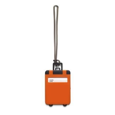Picture of PLASTIC LUGGAGE TAG in Orange