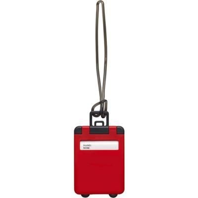 Picture of PLASTIC LUGGAGE TAG in Red