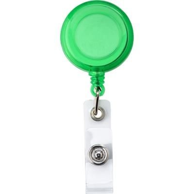 Picture of RETRACTABLE PULL REEL SKI PASS HOLDER in Green