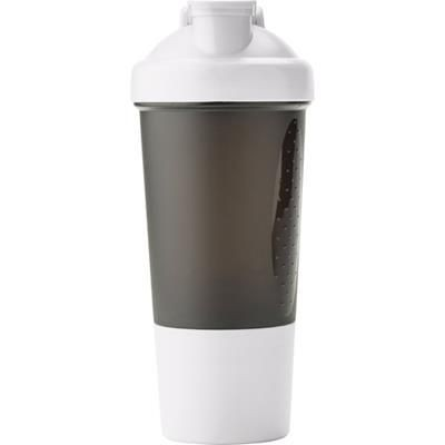 Picture of PLASTIC 500ML PROTEIN SHAKER in White