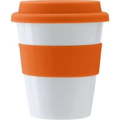 Picture of PLASTIC 350ML DRINK MUG in Orange