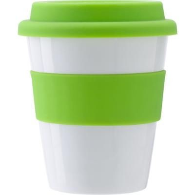 Picture of PLASTIC 350ML DRINK MUG in Pale Green