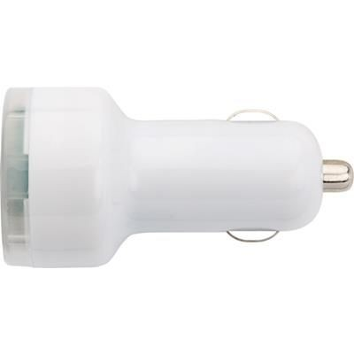 Picture of PLASTIC CAR POWER ADAPTER in White