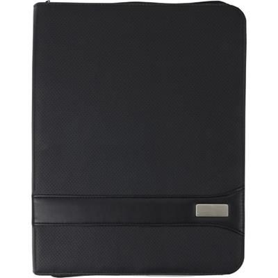 Picture of A4 ZIP PVC CONFERENCE FOLDER in Black