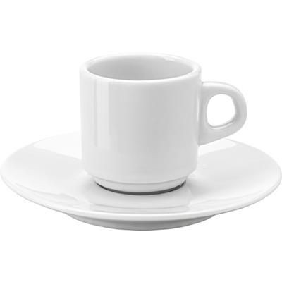 Picture of STACKABLE PORCELAIN CUP & SAUCER in White