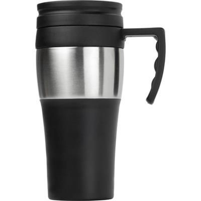 Picture of TRAVEL MUG in Black & Silver