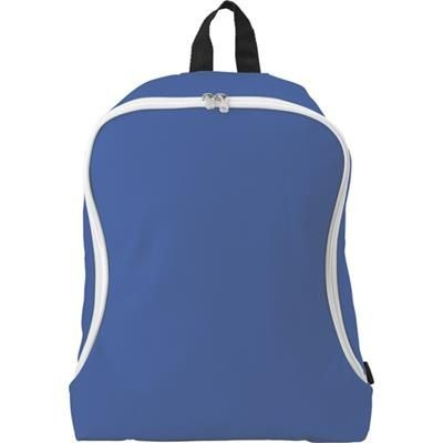 Picture of POLYESTER BACKPACK RUCKSACK in Cobalt Blue