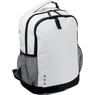 Picture of 600D POLYESTER BACKPACK RUCKSACK in White