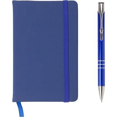 Picture of NOTE BOOK AND BALL PEN SET in Blue