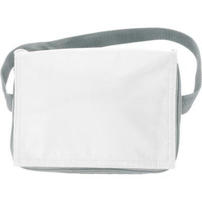 Picture of SIX CAN POLYESTER COOL BAG in White