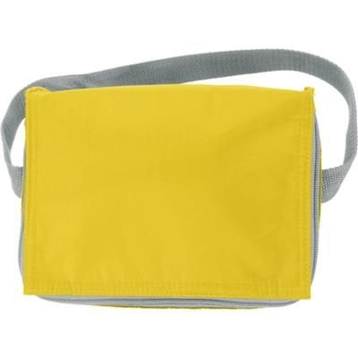 Picture of SIX CAN POLYESTER COOL BAG in Yellow