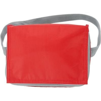 Picture of SIX CAN POLYESTER COOL BAG in Red