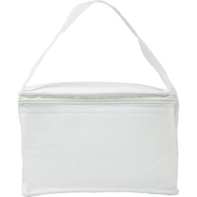 Picture of SIX CAN NON WOVEN COOL BAG in White