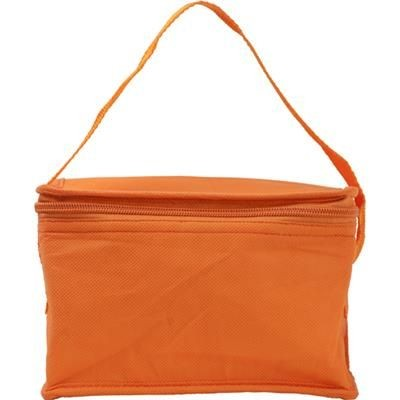 Picture of SIX CAN NON WOVEN COOL BAG in Orange
