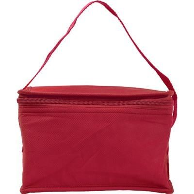 Picture of SIX CAN NON WOVEN COOL BAG in Red