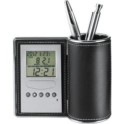 Picture of DESK TIDY ORGANIZER AND CLOCK