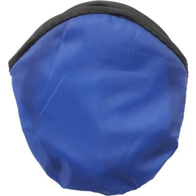 Picture of FOLDING FRISBEE & POUCH in Blue Nylon Folding Frisbee with Matching Pouch