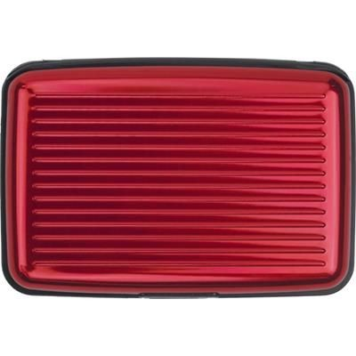 Picture of ALUMINIUM CREDIT CARD OR BUSINESS CARD HOLDER in Red