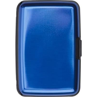 Picture of ALUMINIUM CREDIT CARD OR BUSINESS CARD HOLDER in Cobalt Blue