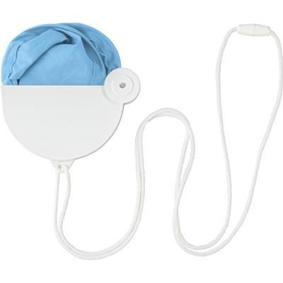 Picture of NYLON FOLDING HAND HELD FAN in Pale Blue