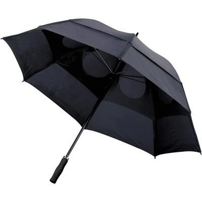Picture of STORMPROOF VENTED UMBRELLA in Black with Foam Handle